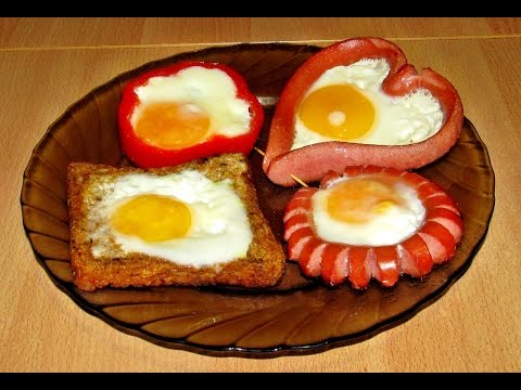 Как сделать яичницу красиво