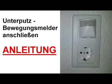 Unterputz Bewegungsmelder für Innen anschließen & einstellen / Bewegungsmelder im Innenbereich