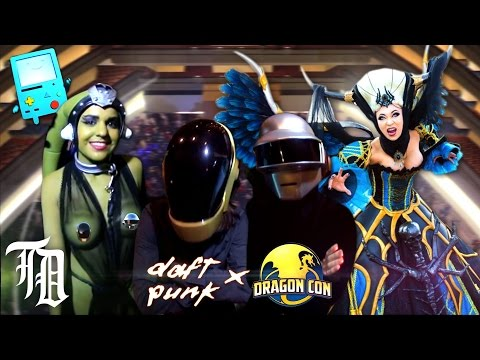 Daft Punk VS DRAGON CON 2014 Epic Cosplay Dance Party