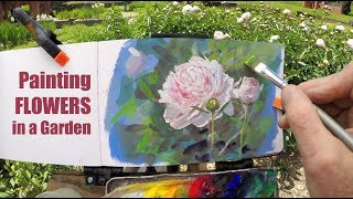 Painting Flowers in a Garden: SAMPLE