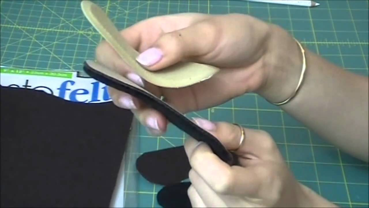D I Y Cusion Felt Heel Liners For Pumps Youtube