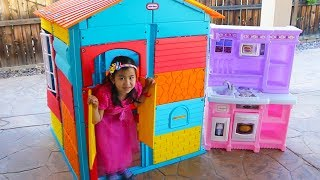Jannie Pretend Play with COLORFUL Kids PlayHouse Toy