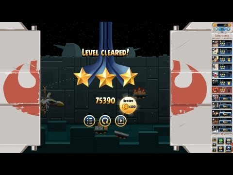 Angry Birds Star Wars Facebook Death Star Level 40 walkthrough 3-stars no PU