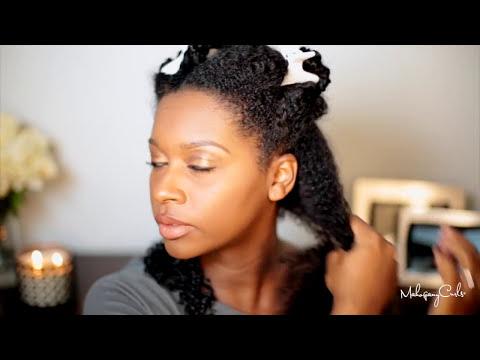 The Wash N Go Series: Kinky Curly Curling Custard Tutorial Ep.1