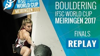 IFSC Climbing World Cup Meiringen 2017 - Bouldering - Finals - Men/Women