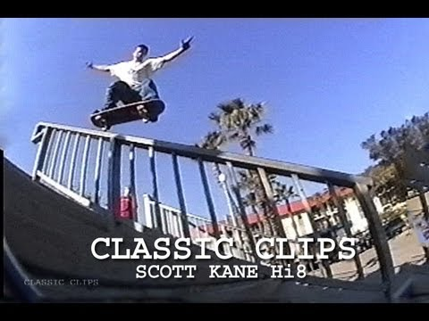 Scott Kane Skateboarding Classic Clips #97 Hi 8 Part
