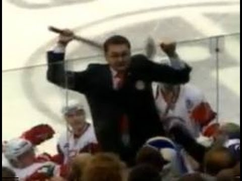 The KHL's Vityaz recently brawled with Dinamo Minsk from Belarus. It got so heated late into the game that Andrei Nazarov, coach of Vityaz from Moscow, Russi...