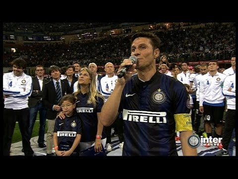 ZANETTI AT THE SAN SIRO - THANK YOU INTER AND EVERYONE!