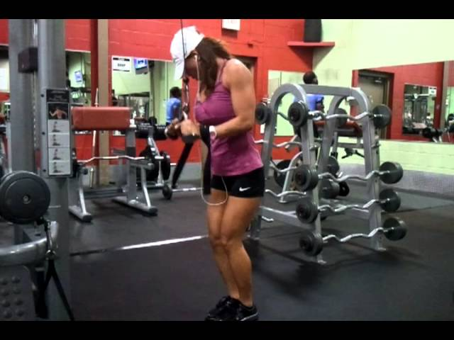 Hot fitness girl working out