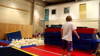 Trampolining in a gym 2