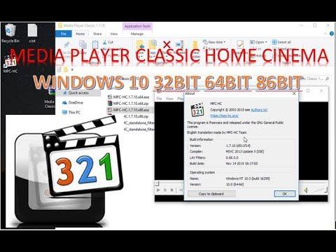 Media Player Classic Home Cinema 2018 Windows 10 32bit 64bit Free Download Install