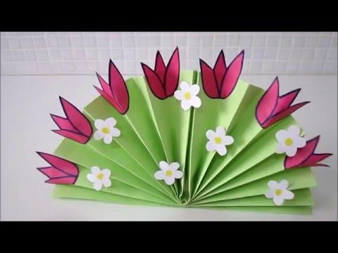 Цветы из бумаги к 8 марта своими руками гофрированной