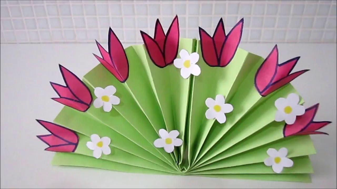 Как сделать цветы из бумаги своими руками в детском саду 54