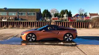 BMW i8 Roadster on ice. 4WD?