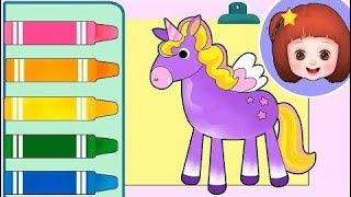 Toy Kids Color Baby Doli drawing game and baby doll toys play