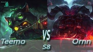 League of Legends - Omega Teemo vs Ornn - S8 Ranked Gameplay (Season 8)