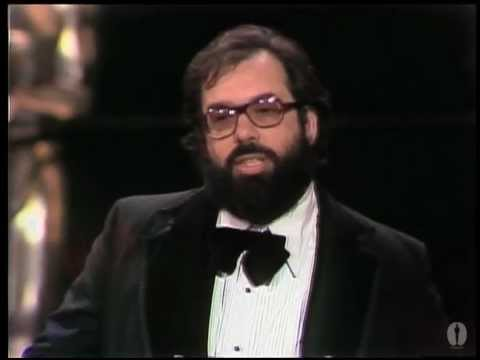 "Francis Ford Coppola ‪winning the Oscar® for ""The Godfather Part II"""