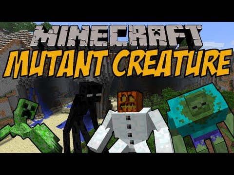 MUTIERTE MINECRAFT MOBS Mutant Creature Mod Minecraft Mod Review DEUTSCH