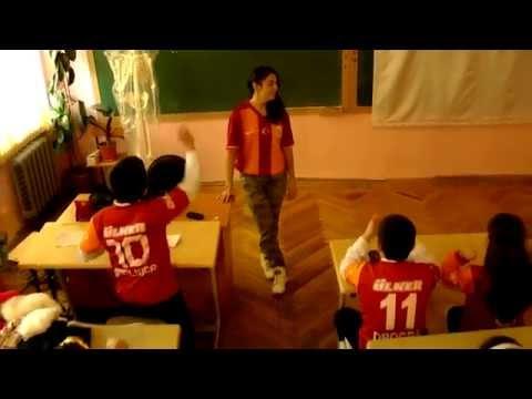 (Isrolk kids) Sevda Azizova- Arsenal against Galatasaray -house mix dance ( Azerbaijan, school 220 )