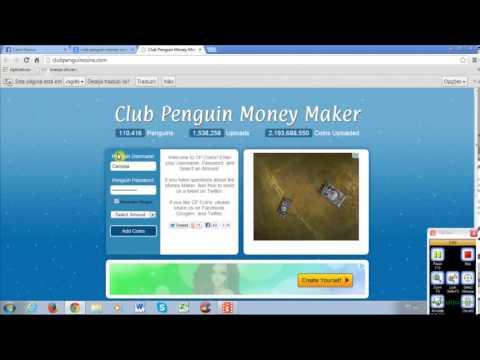 Como ganhar moedas grátis no CLUB PENGUIN/ Outubro 2013