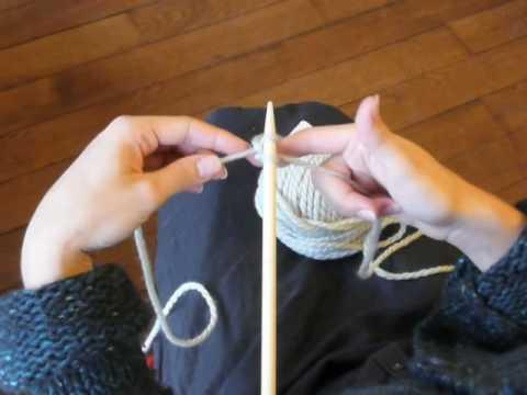 comment tricoter le debut