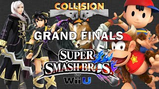 Smash Wii U Tournament Grand Finals - Nairo (Robin/Dark Pit) vs NAKAT (Fox/Diddy/Ness) - Collision X