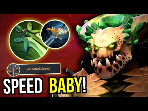 BIG CARRY - Underlord Max Attack Speed Butterfly New Meta 7.09 Dota 2 | Upside Down 48