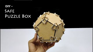 How to Make Safe Puzzle Box - Amazing Diy from Cardboard