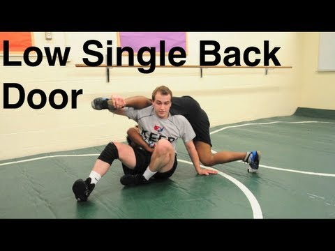 Low Single Leg Out The Back Door Takedown: Basic Wrestling Moves and Technique For Beginners Image 1