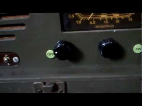 Templetone WW2 Short Wave AM Tube Radio Part 1