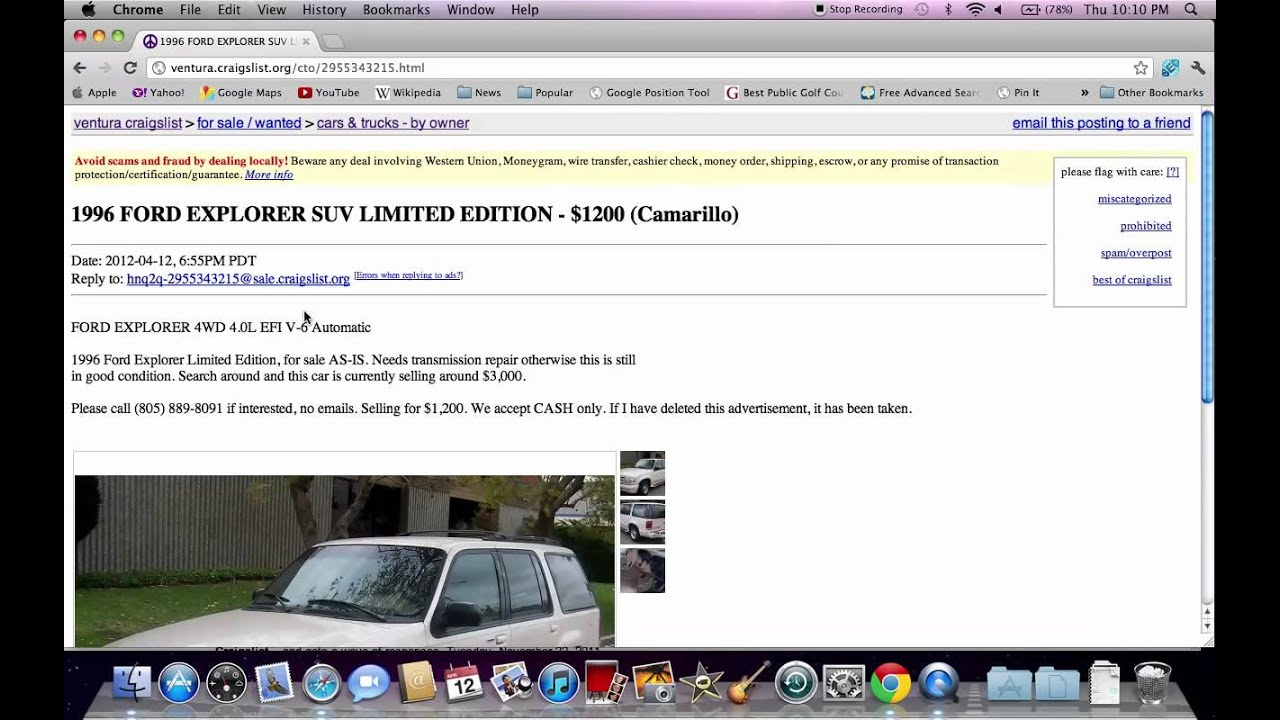 Craigslist Ventura County - Used Cars, Trucks and SUVS For ...