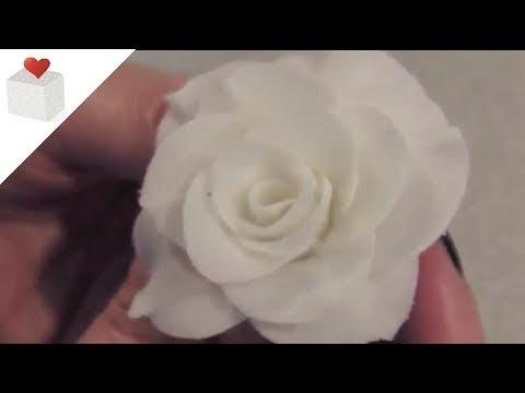 Cómo modelar rosas con pasta de flores (I)   Modelado con Pasta de Flores por Azúcar con Amor