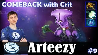 Arteezy - Faceless Void Safelane | COMEBACK with Crit (Skywrath Mage) | Dota 2 Pro MMR Gameplay #9