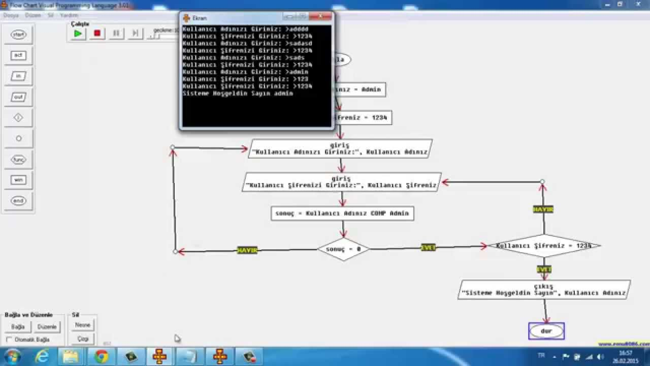 Flow Chart Visual Programming