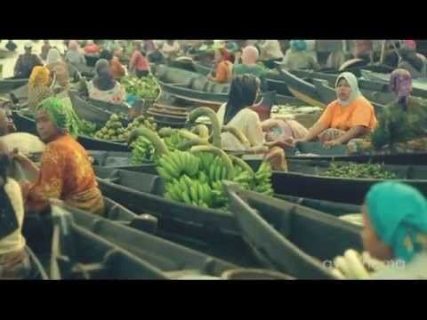 Pasar Terapung Banjarmasin - Indonesia Floating Market HD