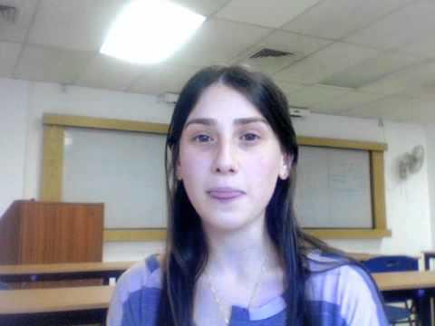 Arielle from North Shore Hebrew Academy on Midreshet Moriah - 10/25/2011