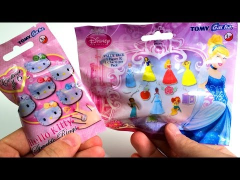 Disney Princess & Hello kitty toys dolls mystery blind bags by Unboxingsurpriseegg