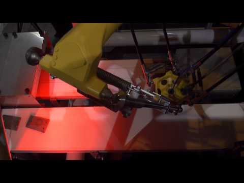 M-3iA/6S Picking Robot Picks Stamped Parts — FANUC Robotics Industrial Automation