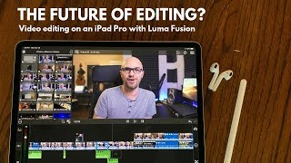 Editing my first entire video on an iPad. Is this the future?