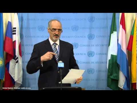 Syria: Bashar Ja'afari   Security Council Media Stakeout   April 23, 2014