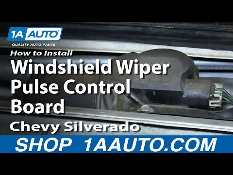 How To Install Replace Windshield Wiper Pulse Control Board 1999-02 Chevy Silverado GMC Sierra
