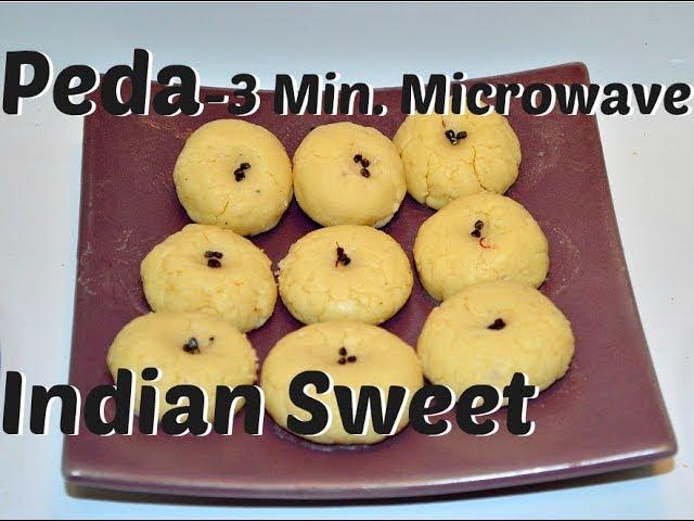 Peda (Milk Fudge) Microwave 3 Minute Recipe video by Chawlas-Kitchen.com
