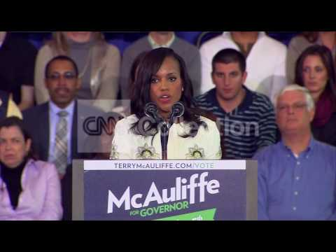 KERRY WASHINGTON AT TERRY MCAULIFFE CAMPAIGN