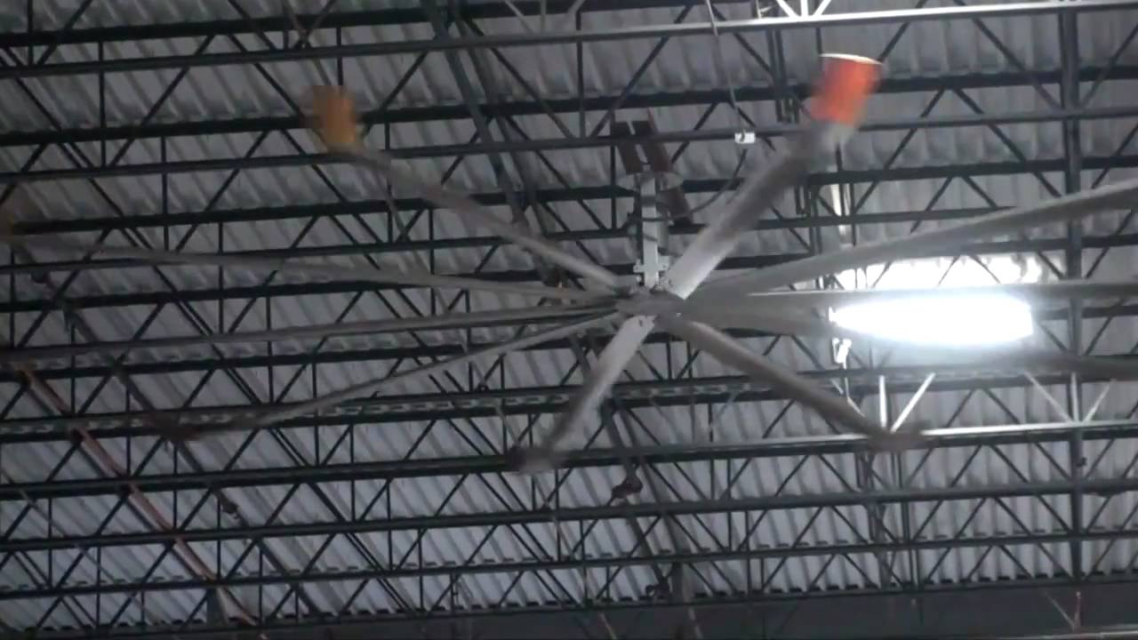 Industrial Fans For Warehouses : Big warehouse ceiling fans youtube