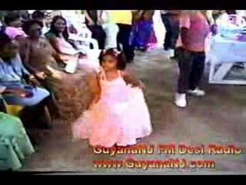 Indian Girl dancing at Wedding in Essequibo Coast Guyana.