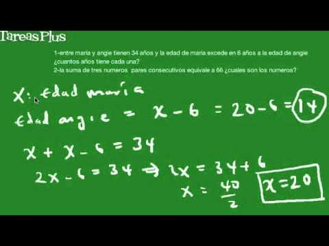 Problemas de aplicación de ecuaciones simples