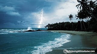 Rain Thunder Ocean Sounds White Noise For Sleep Or Studying 10 Hours