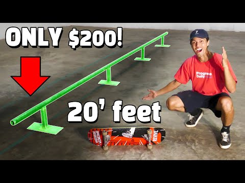 This 20 FOOT LONG Skate Rail Only Costs $200