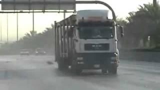 Во время дрифта в грузовик