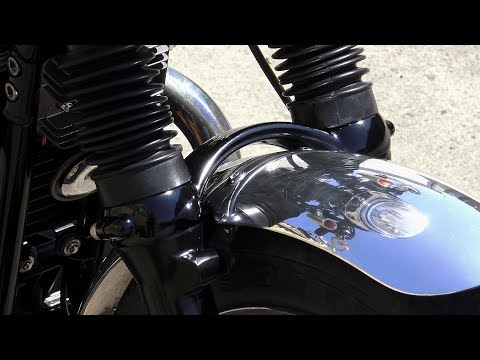 Custom Triumph T100, why would you fit a fork brace and how to do it!